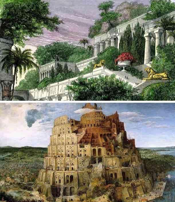 Κρεμασοί κήποι - Πύργος Διος-Βήλου (Βαβέλ)