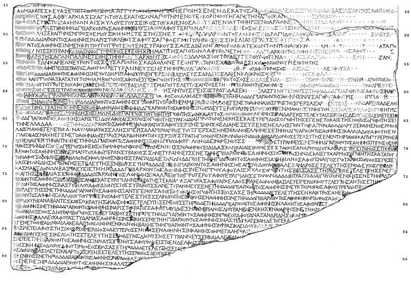 Αρχαία Επιγραφή - Πάριον Μάρμαρο