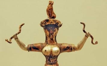 Η μινωική θεά των φιδιών