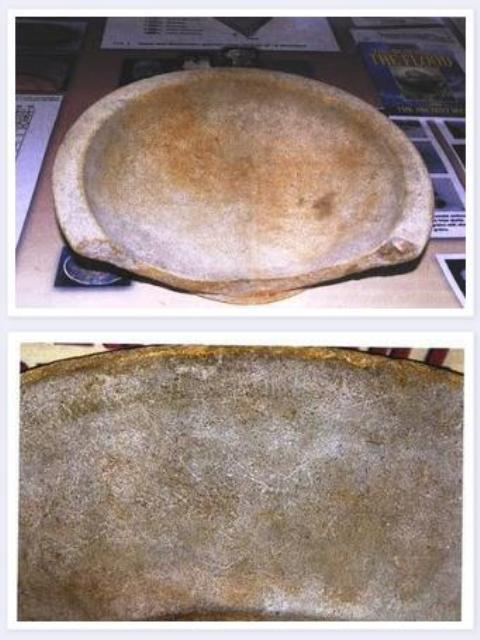 Προκατακλυσμιαίο Πιάτο με Αρχαία Ελληνικά Γράμματα