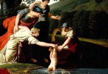 Η Θέτιδα βουτάει τον Αχιλλέα στα νερά της Στύγας