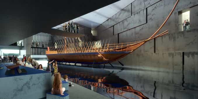 Αρχαίο πλοίο σε μουσείο