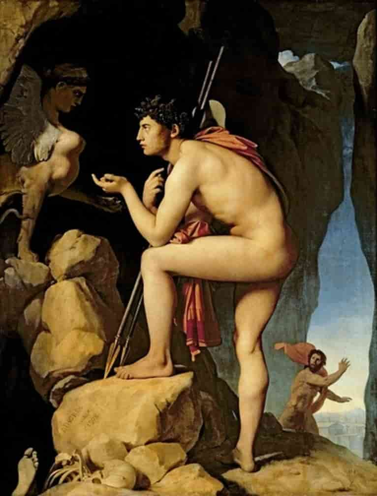 Oedipus and the Sphinx, Ingres, 1808. Oil on Canvas. Louvre, Paris.
