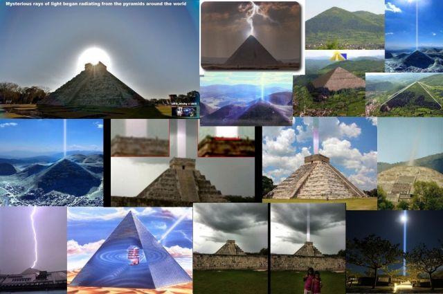 Έξαρση ενέργειας που ακτινοβολείται από πυραμίδες σε όλο τον κόσμο