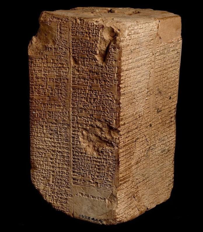 Η Λίστα των Σουμερίων-Ανουνάκι Βασιλέων. Credits: Ashmolean Museum