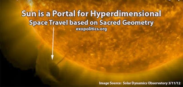Ο Ήλιος είναι μία Πύλη προς άλλες διατάσεις και βασίζεται στην Ιερή Γεωμετρία