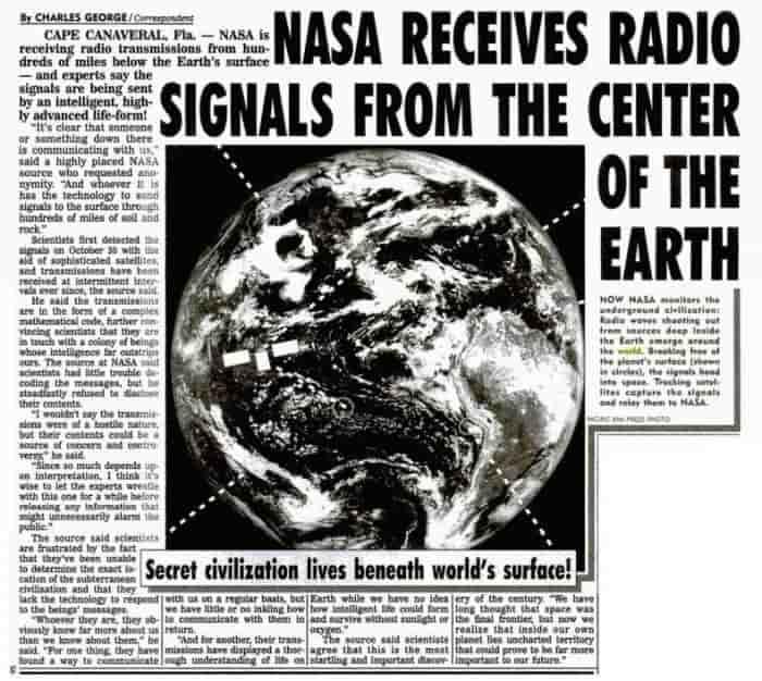 ΝΑΣΑ πιάνει σήματα από το εσωτερικό της Γης