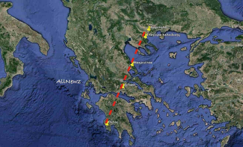 Ο τάφος Αριστοτέλη σε ευθεία με ενεργειακά σημεία της Ελλάδας!