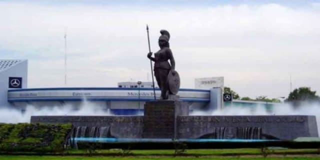 Το άγαλμα της Θεάς Αθήνας στο Μεξικό!