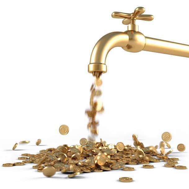 Βρύση με λεφτά