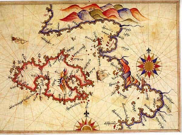 Η Eλληνικότητα των Νησιών από τον Ναύαρχο Πιρί Ρείς