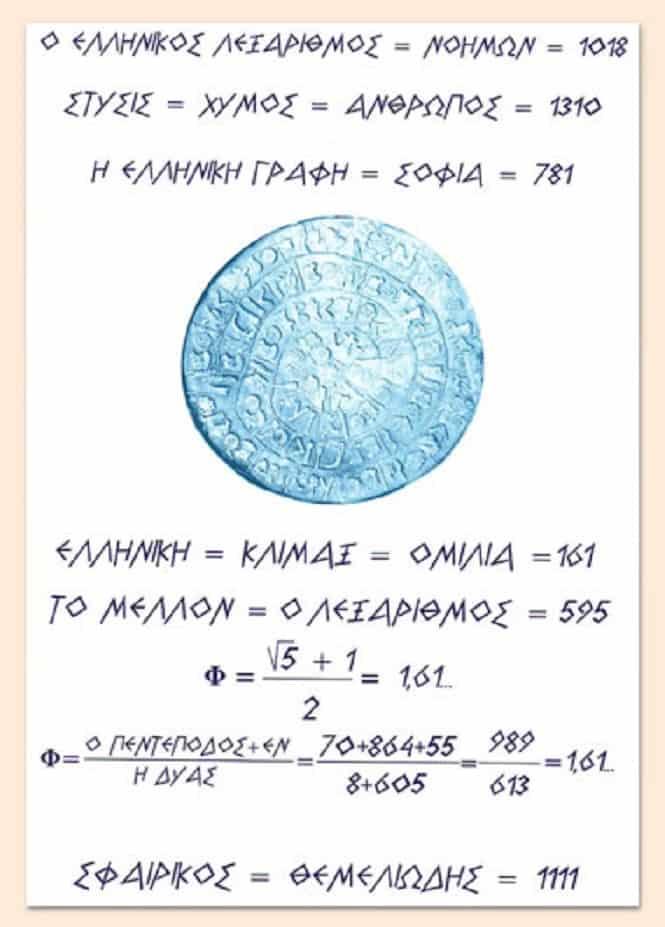 Αποδείξεις της Μαθηματικής Κατασκευής της Ελληνικής Γλώσσας