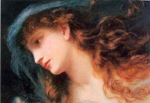 """""""Η κεφαλή μιάς Νύμφης"""" από Sophie Gengembre Anderson (1823 – 1903"""