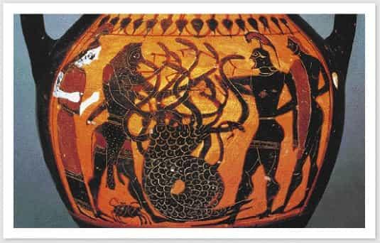Ο Ηρακλής σκοτώνει τη Λερναία Υδρα