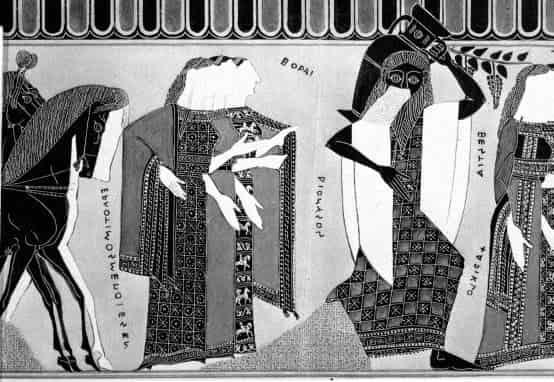 Θέτις, Διόνυσος, Αχιλλέας