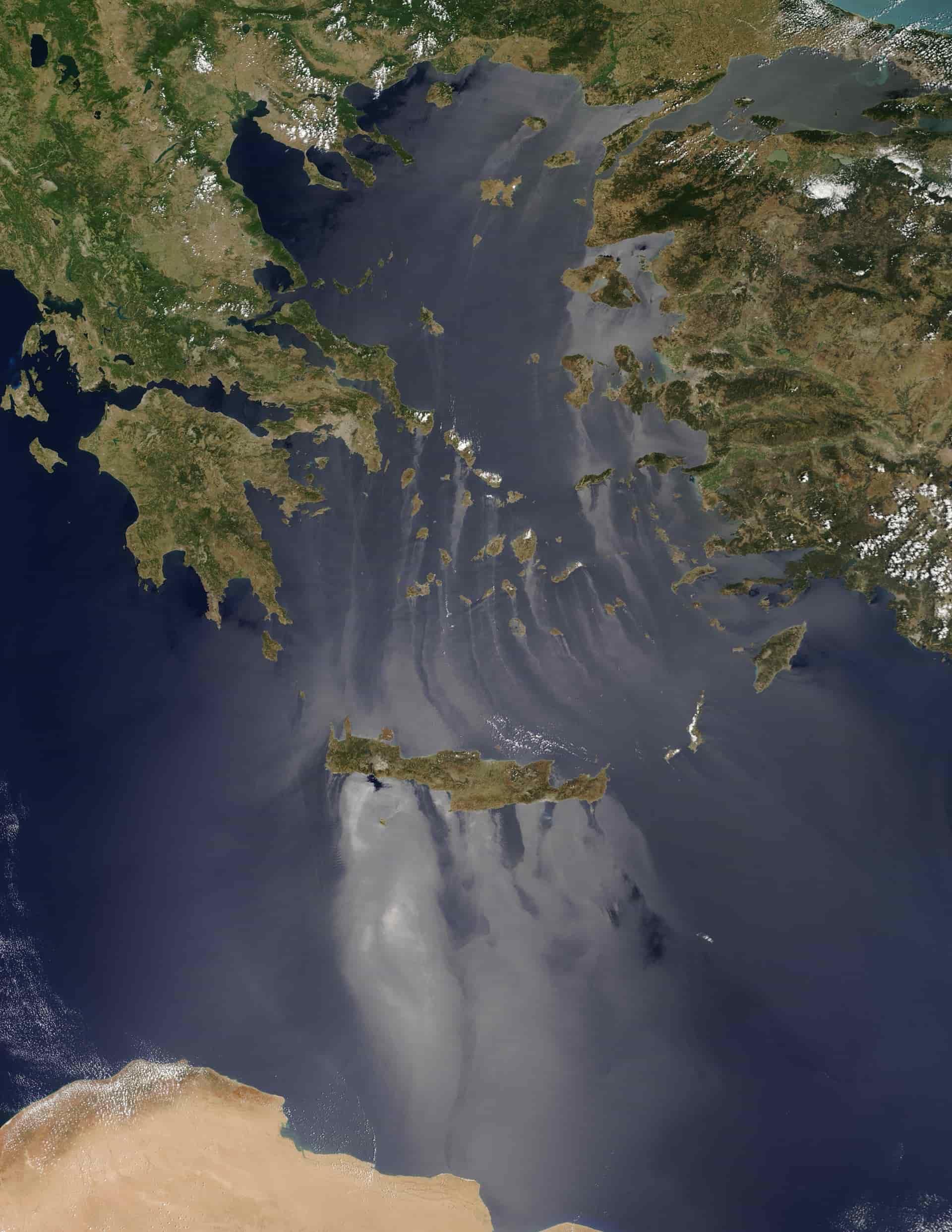 Το Εντυπωσιακό Φαινόμενο που Κατέγραψε η NASA πάνω από το Αιγαίο - ΦΩΤΟ