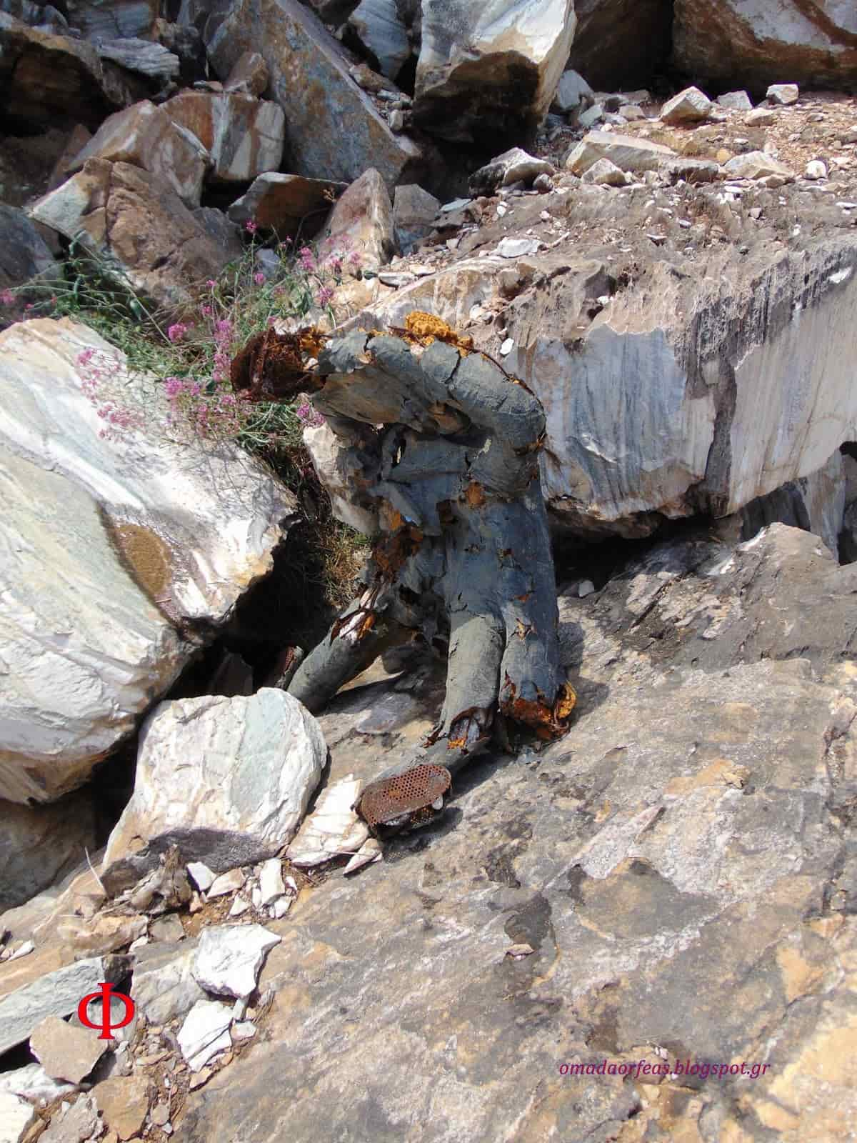 Η Μυστηριώδης «Πανοπλία» που Βρέθηκε σε Λατομείο της Πεντέλης (εικόνες)