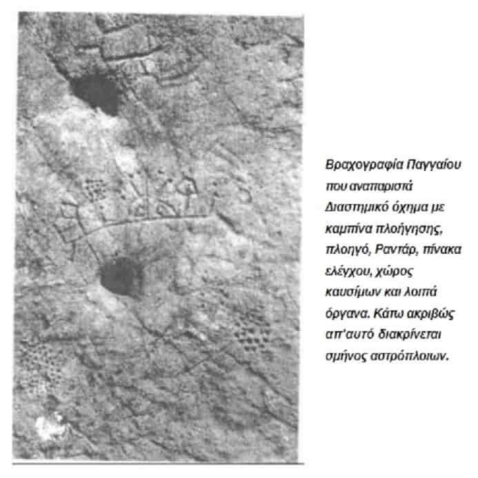 Διαστημικό Όχημα στις Βραχογραφίες του Παγγαίου