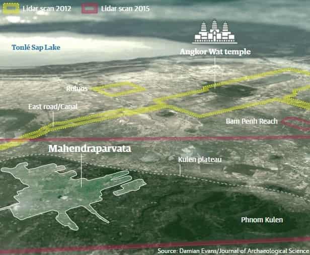 Τεχνολογία λέιζερ αποκαλύπτει ότι ο Πολιτισμός της Καμπότζης «Ξαναγράφει Ιστορία»