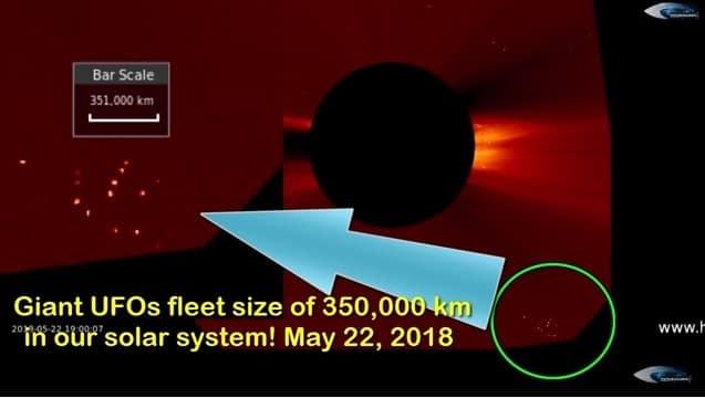Σμήνος ΑΤΙΑ Έκτασης 350.000 χλμ Βρίσκεται Κοντά στον Ήλιο Δηλαδή ΚΟΝΤΑ ΜΑΣ (video)