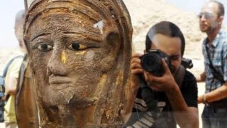 Βρέθηκε στην Αίγυπτο Επιχρυσωμένη Μάσκα Μούμιας Αρχαιοελληνικής Τεχνοτροπίας