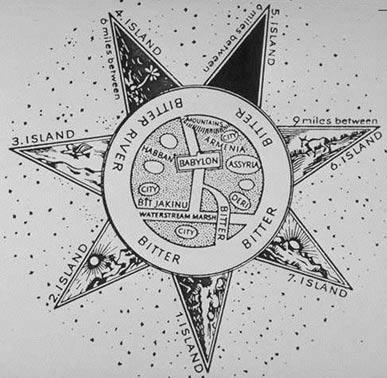 Ο Παράξενος Αρχαιότερος Χάρτης του Κόσμου σε Επτάκτινο Αστέρι