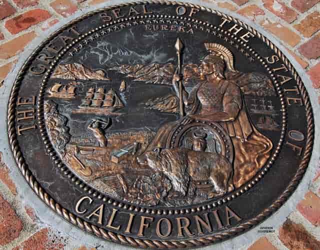 Η Θεά Αθηνά στην Επίσημη Σφραγίδα της Καλιφόρνιας!
