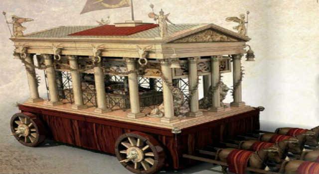 Η Άμαξα που Μετέφερε τη Σορό του Μεγάλου Αλεξάνδρου Ζύγιζε Πάνω από 100 Τόνους