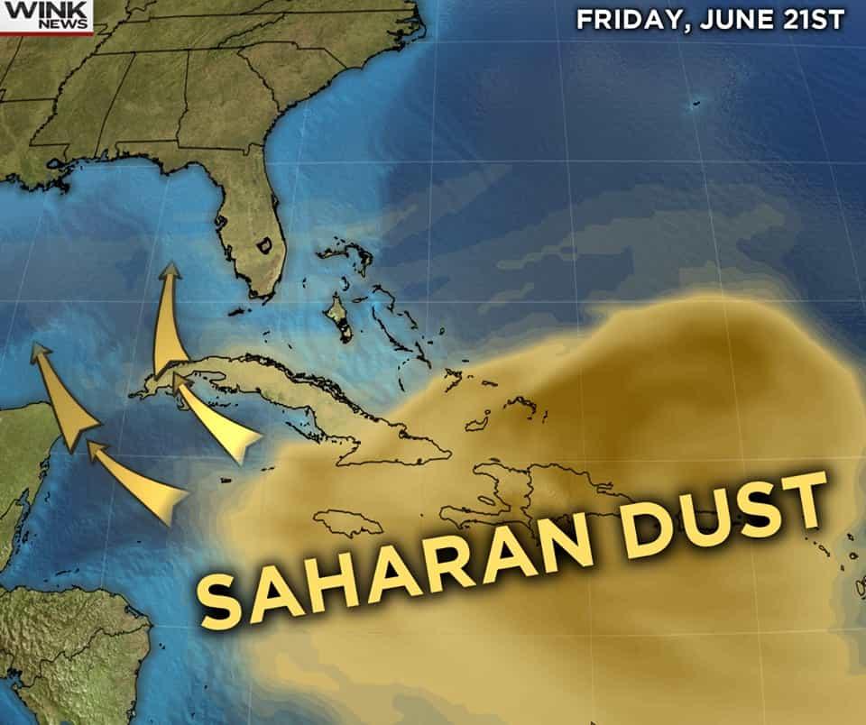 Αφρικανική Σκόνη Κατακλύζει Καραϊβική και Νότια Αμερική