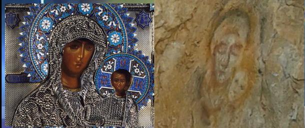 Εμφανίστηκε το πρόσωπο της Παναγίας Βρεφοκρατούσας σε μια πόλη στη Ρωσία