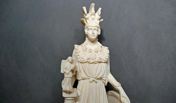 χρυσελεφάντινο άγαλμα της θεάς Αθηνάς