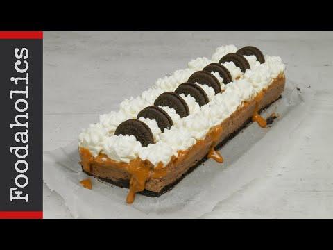 Πάστα σοκολάτα καραμέλα με μπισκότα Oreo και 4 υλικά