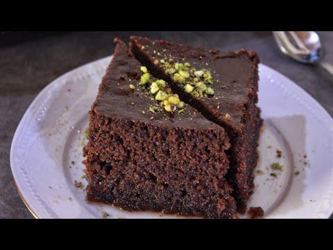 Ραβανί: Σιροπιαστό Γλυκό Ταψιού Σοκολάτας