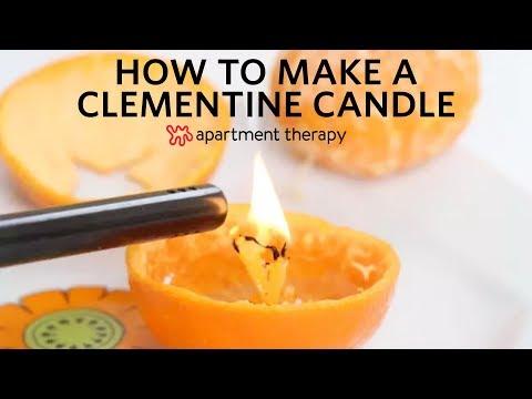 Αρωματικό κερί με φλούδα μανταρινιού και λάδι