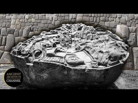 Λαξευμένη επιφάνεια αρχαίου μονόλιθου δείχνει 3D αναπαράσταση ενός άγνωστου αρχαίου τόπου