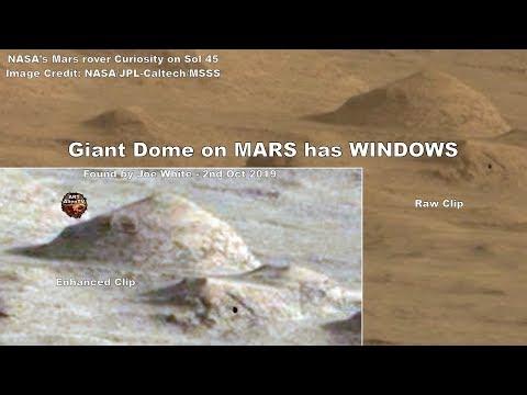 Θόλο με τεράστια ορθογώνια παράθυρα στον πλανήτη Άρη, ισχυρίζεται ότι εντόπισε ερευνητής