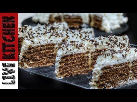 Κορμός ψυγείου σαν τούρτα με μπισκότα πτι μπερ γεύση σοκολάτα