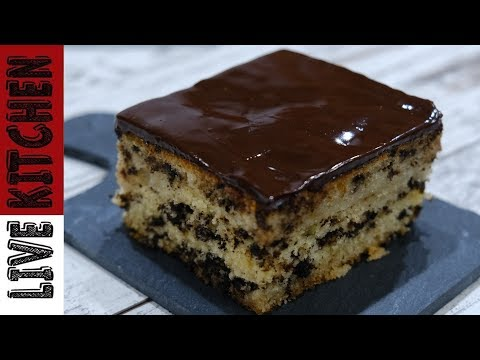 Αφράτο σιροπιαστό κέικ μυρμηγκάτο με γλάσο