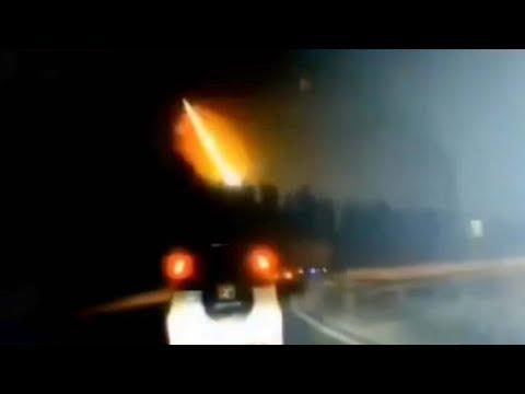 Τεράστια μπάλα φωτιάς στον ουρανό της Βόρειας Κίνας (video)