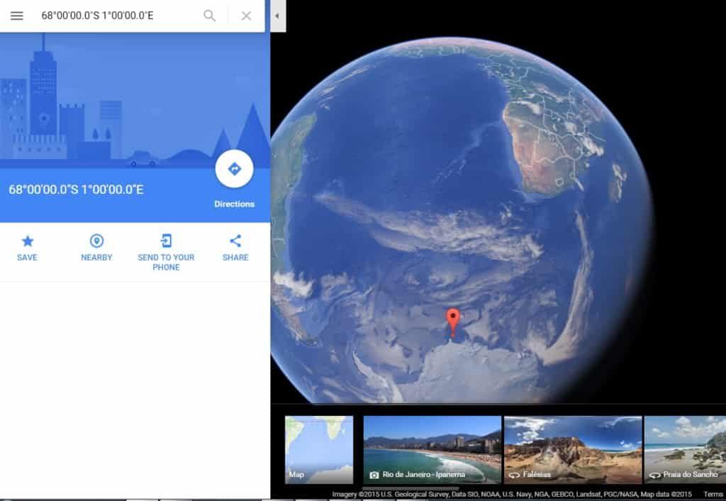 Ο «χάρτης της Ανταρκτικής» για την Αγκάρθα και οι συντεταγμένες του