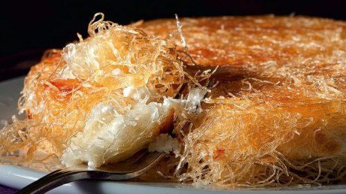 Ανατολίτικο σιροπιαστό κιουνεφέ με γέμιση τυριού ή κρέμας