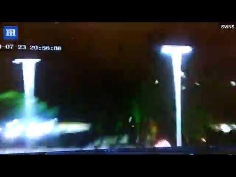 Την απογείωση ενός UFO στην Καλιφόρνια, καταγράφει νυχτοφύλακας από την κάμερα παρακολούθησης, σύμφωνα με ισχυρισμούς (video)