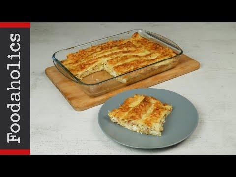 Διαφορετικές κρέπες φούρνου με φέτα, αλλαντικά και κίτρινο τυρί